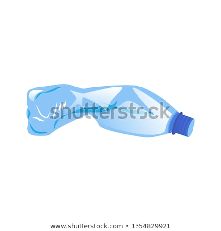 Water Plastic Bottle Cartoon Illustration With Recycled Sign Stock photo © hittoon