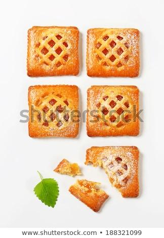Kicsi sárgabarack piték tömés étel gyümölcs Stock fotó © Digifoodstock