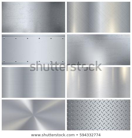 Metal texture vettore set raccolta design tecnologia Foto d'archivio © blaskorizov