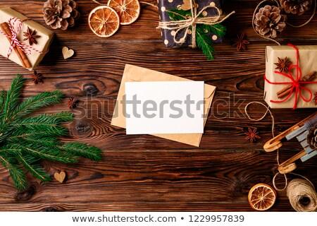 şablon fırıncı hediyeler örnek gıda Stok fotoğraf © colematt