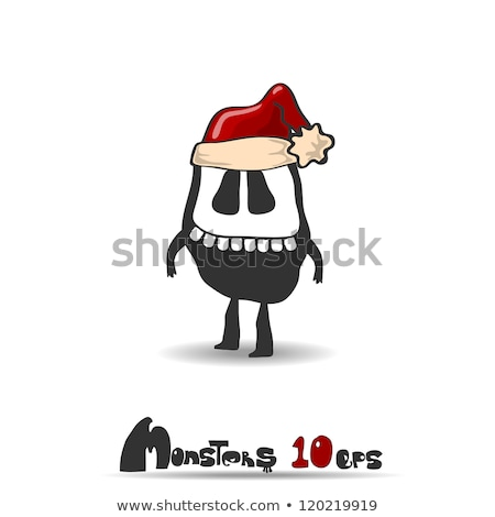 Karácsony szörny kalap illusztráció háttér művészet Stock fotó © colematt