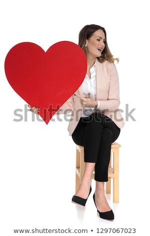 houten · stoel · geïsoleerd · witte · ontwerp · home · bar - stockfoto © feedough