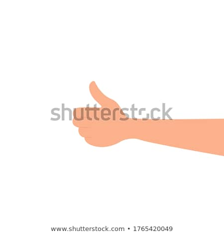 Woman showing thumbs up, everything is OK, everything is super! Going on vacation the dress of the s Stock photo © studiolucky