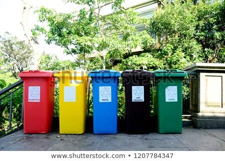 Сток-фото: мусор · пять · различный · цветами · иллюстрация · фон