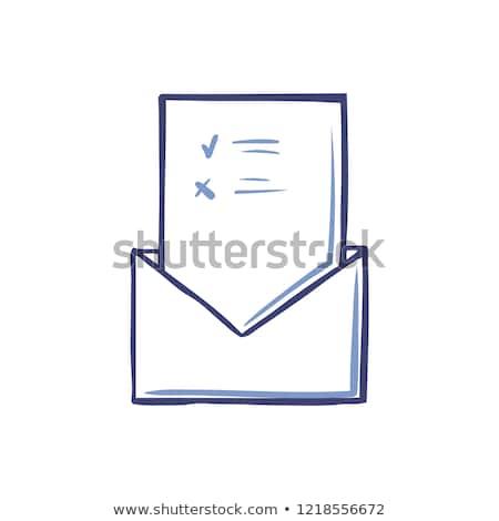 Kopercie głosowanie strona odizolowany wektora Zdjęcia stock © robuart
