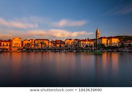 supetar waterfront sunset panoramic view stock photo © xbrchx