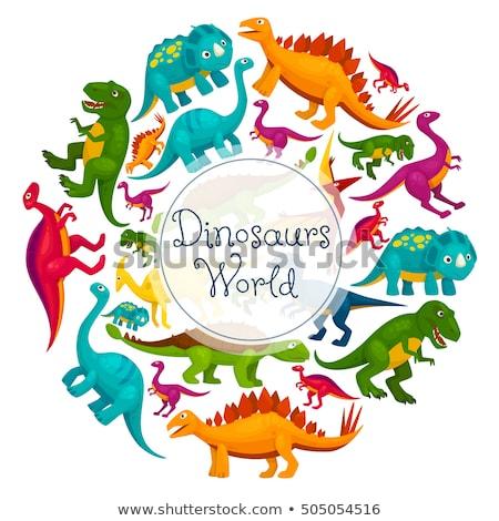 恐竜 世界 ポスター ベクトル 漫画 抽象的な ストックフォト © Natali_Brill