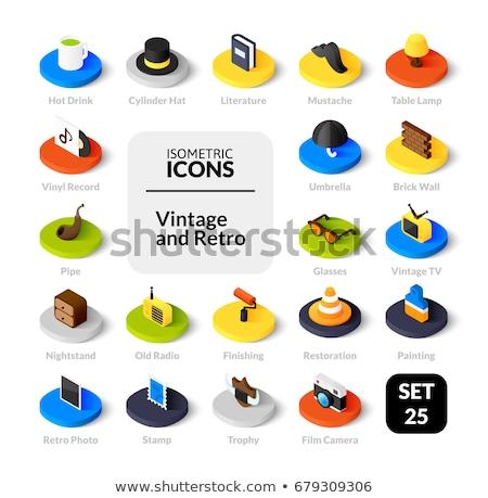 Stockfoto: Pijpen · kleur · schets · isometrische · iconen · eps