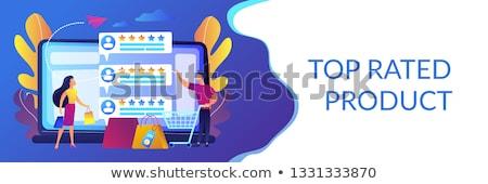 Verkoper banner mensen klanten Stockfoto © RAStudio