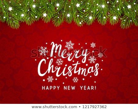 Christmas groene pine vector boom Stockfoto © fresh_5265954
