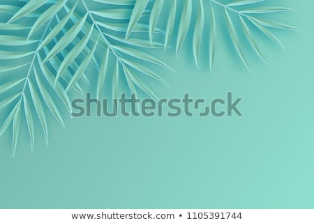 Background with tropical palm leaves monstera from paper Stock photo © furmanphoto