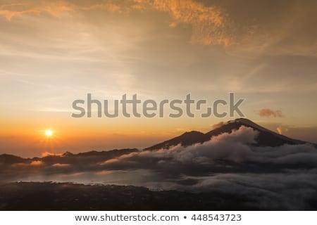Vulcano bali Indonesia attivo cielo natura Foto d'archivio © boggy