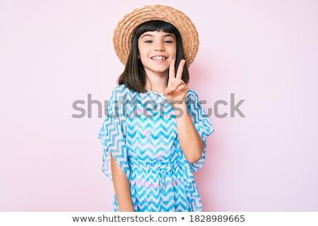 少女 · ビキニ · 立って · ビーチ · 夏 · 休日 - ストックフォト © ElenaBatkova