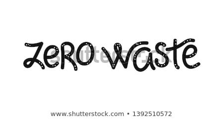 нулевой отходов каллиграфия типографики можете используемый Сток-фото © user_10144511