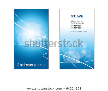 Business card blue holder Stock photo © nicemonkey