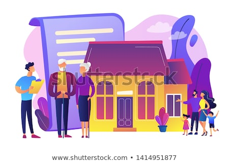 propriedade · seguro · ícones · casa · mãos · isolado - foto stock © rastudio