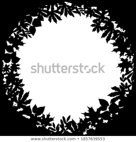 Floral Frame in Form Circle Rounded Shape Banner Stock photo © robuart