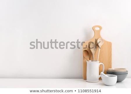 Rustic ceramic utensils Stock photo © netkov1