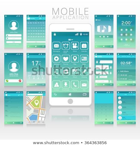 Online Weather Widget On Smartphone Screen Vector Stock photo © pikepicture