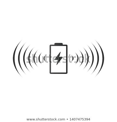 wireless battery charging icon can be used on web apps mobile apps and print media vector illustr stock photo © kyryloff