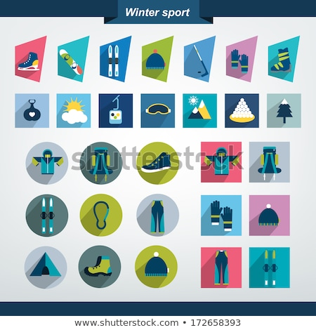 Winter sport flat icon set Stock photo © netkov1