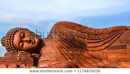 Foto stock: Buda · estátua · blue · sky · corpo · azul · arquitetura