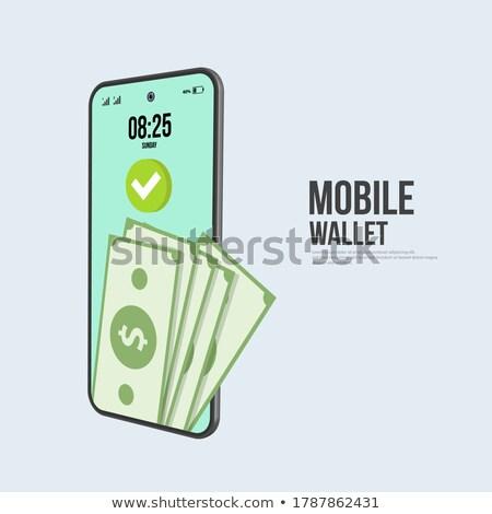 bankkártya · okostelefon · digitális · szerkentyű · ikon · üzlet - stock fotó © rwgusev