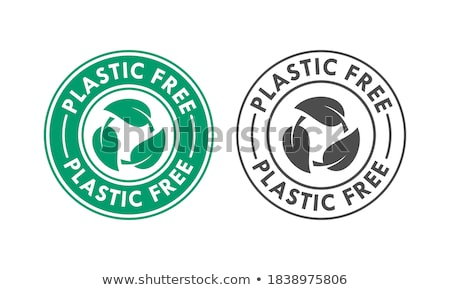 Biodegradable sign - plastic free compostable product label, arr Stock photo © Winner