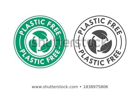 Сток-фото: знак · пластиковых · свободный · продукт · Label · Стрелки