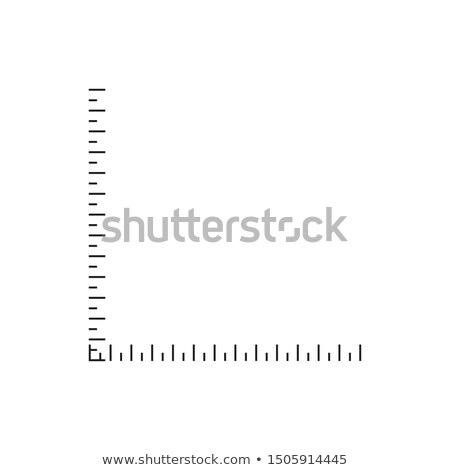 Vertical and horizontal ruler. Template for your design works. Stock Vector illustration isolated on Stock photo © kyryloff