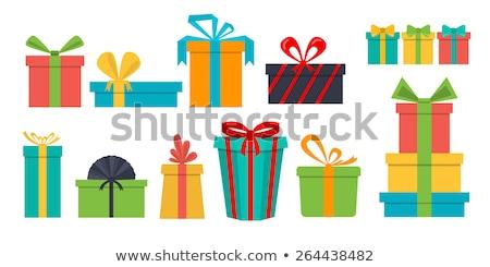 hand · geschenkdoos · vrouwelijke · Blauw · meisje - stockfoto © pikepicture