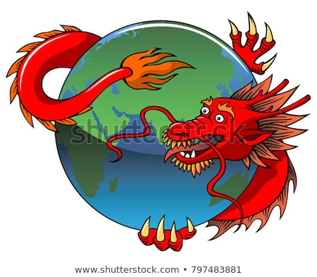Chinese dragon entwining Earth Stock photo © ensiferrum
