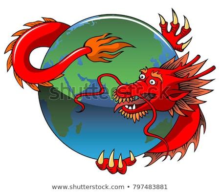Chinese dragon entwining Earth stock photo © ensiferrum