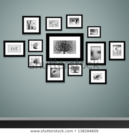Exposición museo Foto pared arte vector Foto stock © robuart