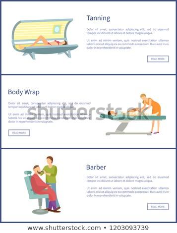 веб плакат женщину солярий Сток-фото © robuart