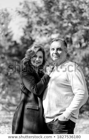 Personnes marche automne parc couple photo Photo stock © robuart