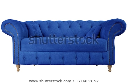 sofa and couch blue stockfoto © robuart