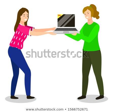 Arguing People at Store, Fights for Sale Items Stock photo © robuart