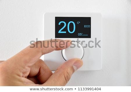 Digitale klimaat controle huis muur energie Stockfoto © Lopolo