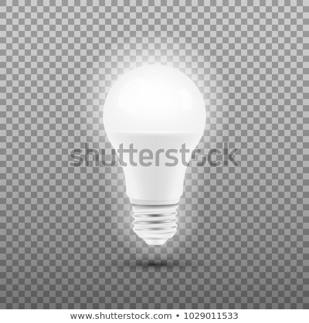 Energy Save Electric Glowing Led Light Bulb Vector Stock photo © pikepicture