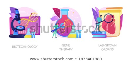 Biomedical and molecular engineering vector concept metaphors. Stock photo © RAStudio
