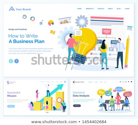 Successful Mission and Data Analysis Websites Stock photo © robuart