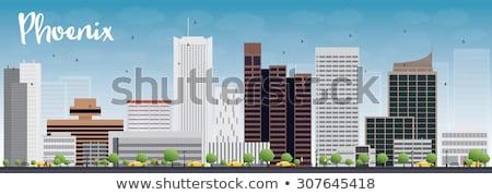 Phoenix Skyline with Grey Buildings and Blue Sky Stock photo © ShustrikS