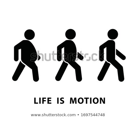Running fat person icon, weight loss and diet concept, life is m Stock photo © gomixer