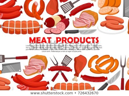 Deli meat and Frankfurter sausages  Stock photo © grafvision
