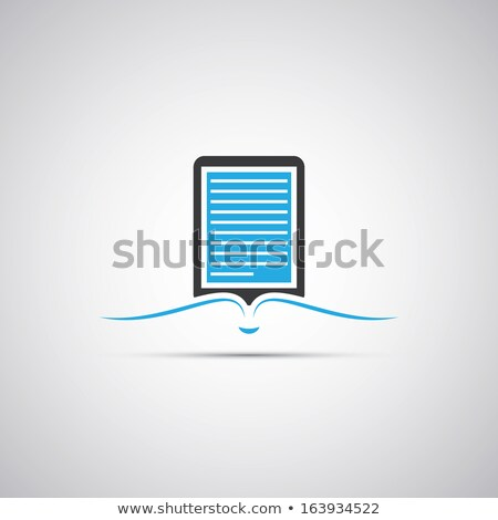 Blue e-book reader Stock photo © magraphics