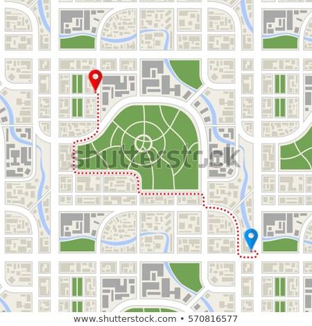Skomplikowany sposób GPS miasta domu Zdjęcia stock © evgeny89