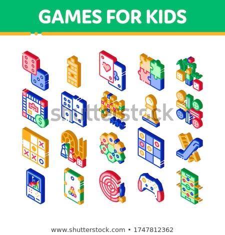 Interactieve kinderen spel isometrische icon vector Stockfoto © pikepicture