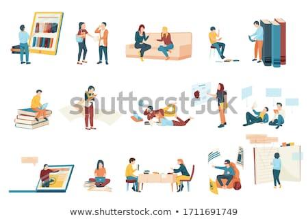 студентов чтение книгах онлайн библиотека учебники Сток-фото © robuart