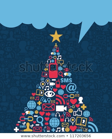 christmas global social media network stock photo © cienpies